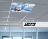 wolken plafond met verlichting