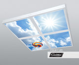 plafondfoto met verlichting