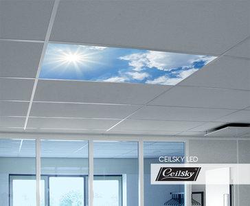 fotoplafond wolken lucht aan plafond