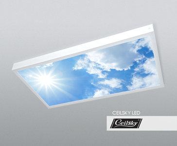 Lucht foto aan plafond. Ceilsky