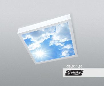 opbouw fotoplafond met lucht